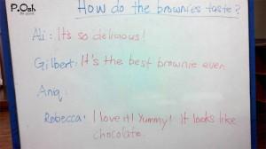 How do the brownies taste?