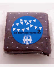 3″ Square Brownie with Custom Sticker